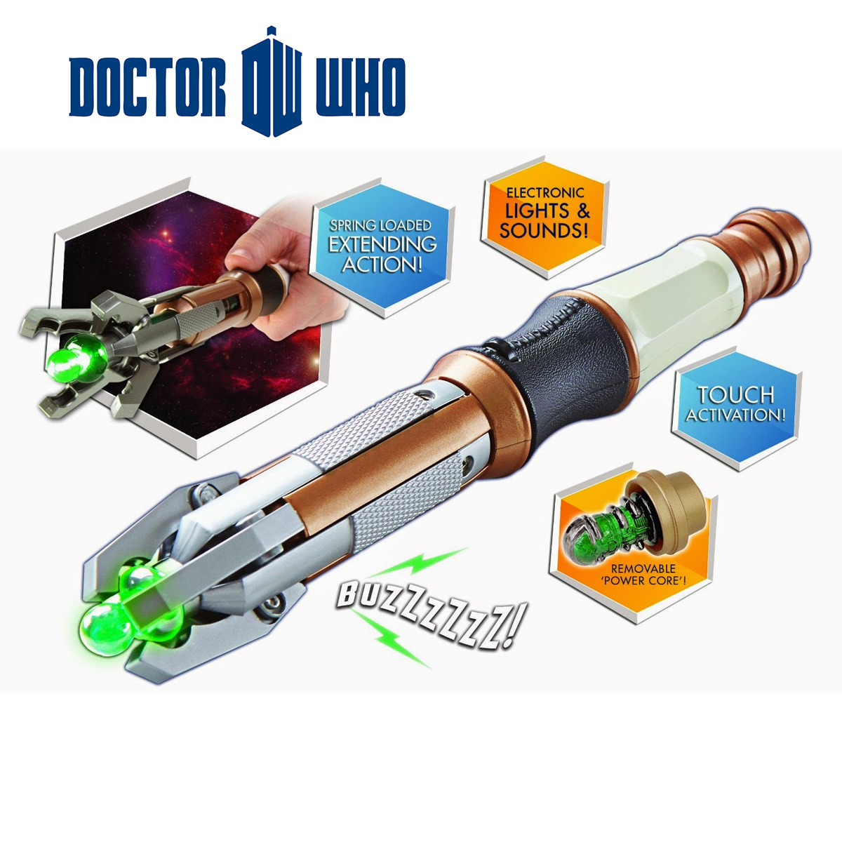 Sonic Screwdriver<br> 12th Dr Who Sound<br>and Light