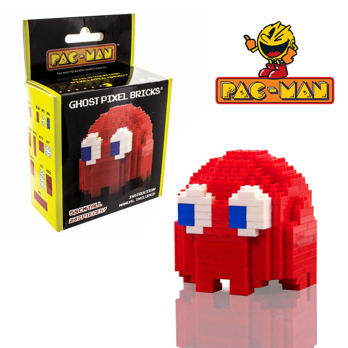 Bricks Pixel<br> Blinky - PacMan<br>Ghost