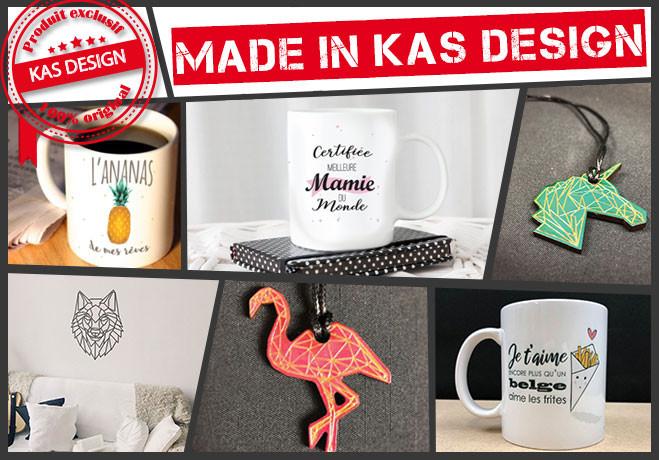 Retrouvez nos produits exclusifs Kas Design